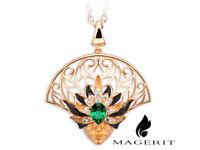 Magerit  Necklace Misterio 18K Yellow or White Gold Diamonds Topaz NEW
