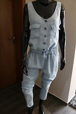 Made in Italy Vintage Star Jeans G Jumpsuit Overall Gr.L Jeansblau washed edel