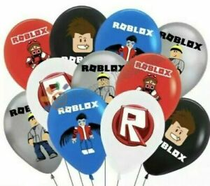 "10 X 12"" COLOURED  ROBLOX  Themed Latex Printed Balloons Birthday PARTY"