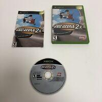 Tony Hawk's Pro Skater 2X Xbox Complete CIB Microsoft Original Tested