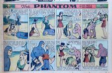 The Phantom by Falk & Moore - Spanking panels - color Sunday comic Nov. 30, 1941