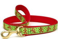 "Up Country Christmas Dog Leash Gingerbread Men Holiday 6' L x 1"" W Green, Red"
