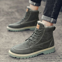 Men's Warm Winter Working Casual Boots Shoes Outdoor Athletic Sports High Top