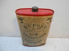 vintage Dupont superfine FG empty black powder tin can