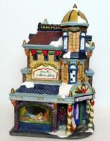 Music School Palace Shop Victorian Train Christmas Village Grandeur Noel 2001