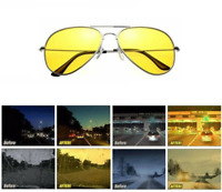 Polarized Night Vision Anti Glare Pilot Driving UV400 Lens Glasses Sunglasses
