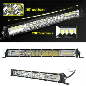 13inch LED Flood Spot Combo Light Bar Offroad Driving Lamp SUV Truck ATV IP68