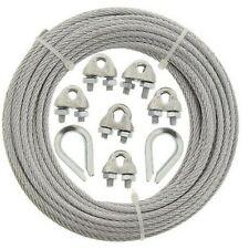7x7 200m c/âble acier inox 5mm cordage torons