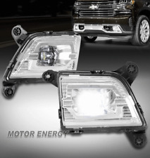 For 19-21 Chevy Silverado 1500 Pickup Bumper LED Fog Light Lamp Chrome LH+RH Set