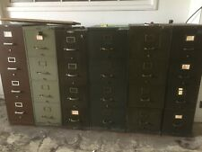 Vtg Tanker File Cabinets Chrome Or Brass Handles Legal Letter Army Nyc Delivery