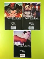 PUNISHER WAR JOURNAL - CIVIL WAR #1,2,3 Fraction Olivetti Marvel NM 9.4