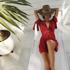 Faithfull the Brand Venice Print Red Oslo Wrap Dress Size XS 6 Sold Out Style