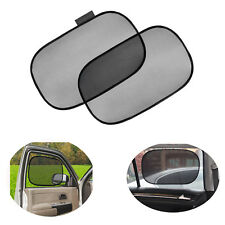 2Pcs Foldable Side Rear Window Screen Mesh Sunshade Cover For Car UV Protection