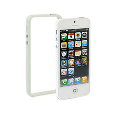 iPhone 5 TPU Silikon Schutz-Hülle Bumper Cover Tasche Case Schale weiß