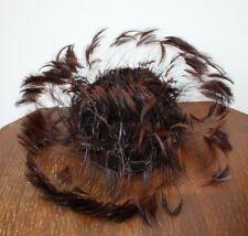 Vintage Best & Co 1940s Feather Skull Cap Fascinator