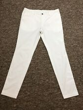 Mens Hugo Boss White Cotton Relaxed Trousers W34 L32