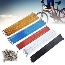36PCS 14G 2mm Steel Bike Bicycle Spoke Spokes + Nipples 259-261mm