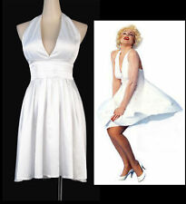 Sexy Marilyn Monroe Halloween Costume White Dress Size L Clubwear RR A3231