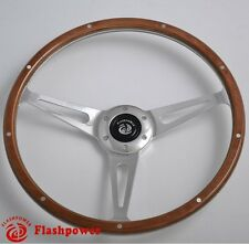 Classic Riveted Wooden Steering Wheel Restoration Ford Mustang Shelby AC Cobra