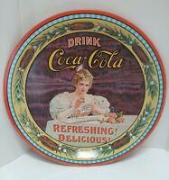 VTG Drink Coca Cola Round Tin Tray-Cinncinati, Ohio 1976 Coke 75th Anniversary
