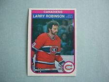 1982/83 O-PEE-CHEE NHL HOCKEY CARD #191 LARRY ROBINSON NM SHARP!! 82/83 OPC