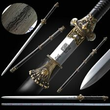 Flood dragon Sword Hand Forged pattern steel Blade sharp Collection gift New#079