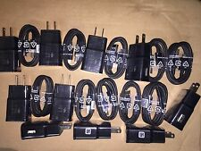 LOT 20 x  Adaptive Fast Wall chargers & cables for Samsung S6 S7 Edge Note 5 6