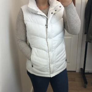 The North Face 700 Nuptse White Goose Down Filled Gilet Body Warmer Jacket Sz L