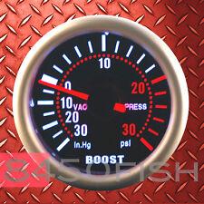 Turbo Boost Gauge Smoke Lens 12 Volt car boat truck Back Light PSI - 90 Series