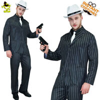Adult Men's 20's Gangster Luxury Costume Slim Fit Outfit Movie Star