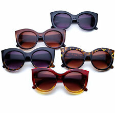 aab243435fbe Oversized Ladies Bold Round Lens Glam Cat eye Women's Sunglasses