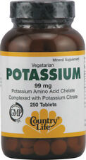 Potassium, Country Life, 250 tablet