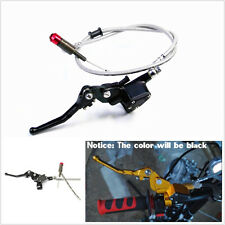 "Black 7/8"" 22mm Motorcycles Hydraulic Brake Clutch Lever Master Cylinder 1200mm"