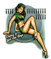 ACE of CLUBS 1950/'s RETRO Classic Pinup Girl Sticker//Decal by Michael Landefeld