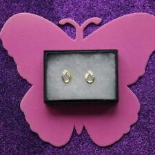 Pendientes de joyería con gemas blancas natural oro amarillo