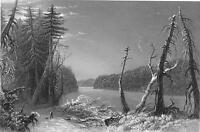 CANADA Orford Lake Eastern Townships - Steel Engraving Print