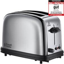 Russel Hobbs Oxford Edelstahl Toaster 2 Scheiben Brötchenaufsatz 1200 W NEU/OVP