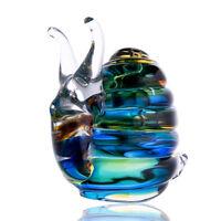 Colorful Glass snails Ornament Art Glass Blown animal Figurine Home Decor Gift