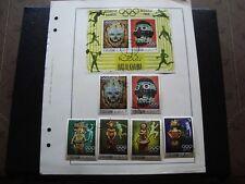 RAS AL KHAIMA - 6 timbres 1 bloc obliteres  stamp