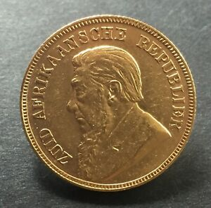 1898 Gold 1 Pond Coin South Africa -  Full Sovereign Equivalent Prior to B.Empir