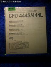 Sony Bedienungsanleitung CFD W444S / 444L (#1067)