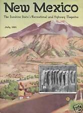 1931 JULY NEW MEXICO MAGAZINE   CARLSBAD CAVERNS & MORE