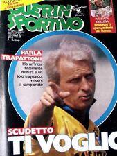 GUERIN SPORTIVO=N°36 1986=MAXIPOSTER FIORENTINA-TORINO