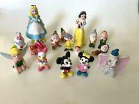 16 Vintage WALT DISNEY PRODUCTIONS Movie Figurine Snow White Mickey Dumbo JAPAN