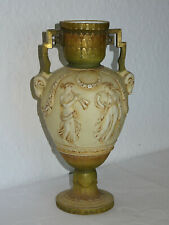 Jugendstil Vase Turn Vienna, Amphore mit Widderköpfe