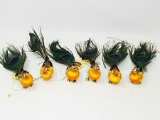 New listing 6 Artificial Simulation Foam Bird Wedding Party Ornaments Crafts Peacock Feather