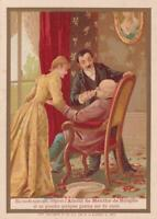 Victorian Trade Card d'Alcool de Menthe Ricqles Medicine For Fainting in French