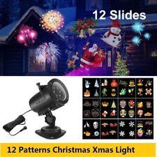 Xmas multicolore 12 Motif LED Projecteur Lumière Jardin extérieur Fête De Noël
