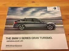 BMW 5 Series GT Gran Turismo F07 UK Car Sales Brochure + INDIVIDUAL, 2013