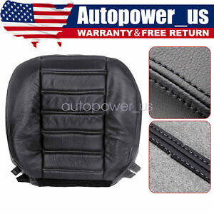 For 2003 04 05 06 2007 Hummer H2 AWD Driver Side Bottom Leather Seat Cover Black